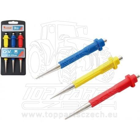 důlčíky, sada 3ks, 0,8-1,5-2,5mm