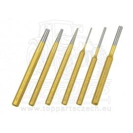 průbojníky a vyrážeče, sada 6ks, složení sady: 3x vyrážeč závlaček 3-5-8x150mm DIN6450, 3x průbojník 3-5-8x150mm DIN6458