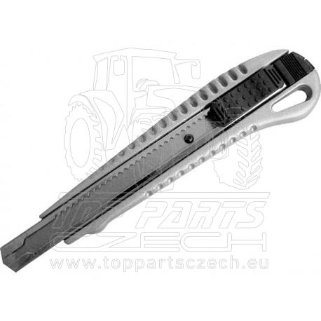 nůž ulamovací kovový s kovovou výztuhou, 9mm