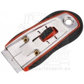 škrabka univerzální, vyměnitelný břit 38x19mm (Extol břity 9141), rukojeť z ABS plastu měkčená protiskluzovou TPR pryží