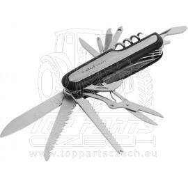 nůž kapesní zavírací 11dílný, nerez, 90mm