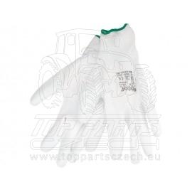 """rukavice z polyesteru polomáčené v PU, bílé, velikost 9"""""""