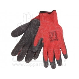 """rukavice bavlněné polomáč. v LATEXU, velikost 8"""""""