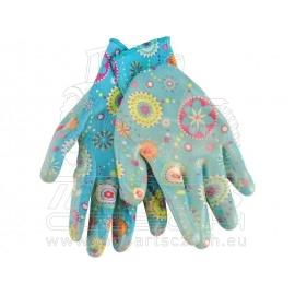 """rukavice zahradní nylonové polomáčené v nitrilu, velikost 10"""""""