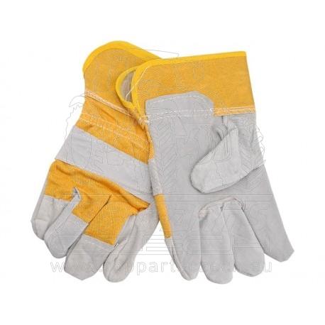 """rukavice kožené s podšívkou v dlani, velikost 10,5"""""""