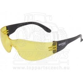 brýle ochranné, žluté