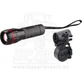 svítilna 3W CREE LED s držákem na kolo, 120lm
