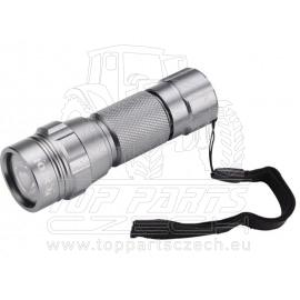 svítilna kovová s LED žárovkou malá, LED žárovka (30 000mcd)