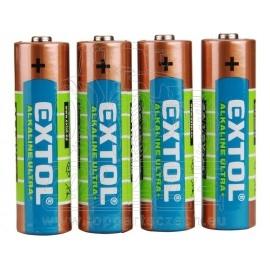 baterie alkalické , 4ks, 1,5V AA (LR6)