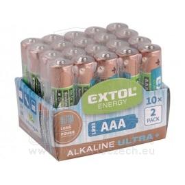 baterie alkalické , 20ks, 1,5V AAA (LR03)