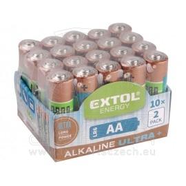 baterie alkalické , 20ks, 1,5V AA (LR6)