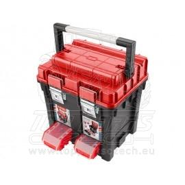kufr na nářadí HD, 450x350x450mm, AL rukojeť, kov.přezky