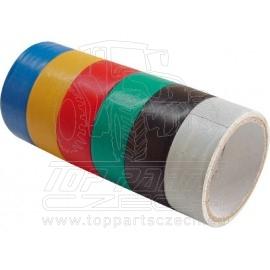 pásky izolační PVC, sada 6ks, 19mm x 18m (3m x 6ks)