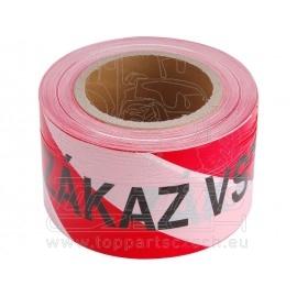 páska výstražná červeno-bílá, 75mm x 250m, PE