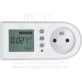 měřič spotřeby el. energie - wattmetr, měří kW, kWh, CO2