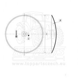 JA234 Podmítací disk hladký 508x4/30 Kverneland