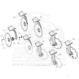 R2320401 Ozub.kotouč 510 mm, 6 otvorů