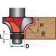 fréza zaoblovací (vydutá) do dřeva, R9,5xD31,8xH16, stopka 8mm