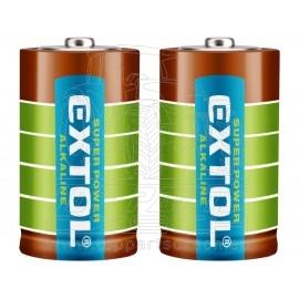 baterie alkalické, 2ks, 1,5V D (LR20)