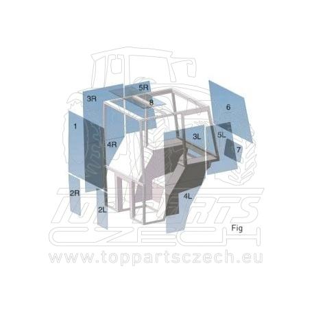 LVU26036 Přední sklo dolní Pravé
