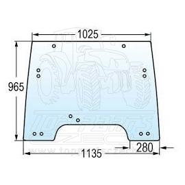 R264822 Čelní sklo nastavitelné
