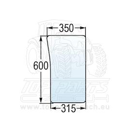 R199280 Přední sklo dolní, pravé a levé náhrada