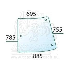R201575 Rohové sklo pravé