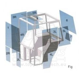 L111669 Přední sklo nastavitelné, pro SE modely s nízkou kabinou