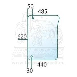 L213350 Přední sklo spodní, pravé