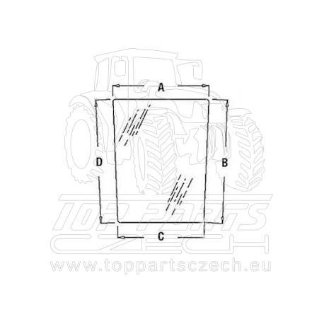 R96195 Přední sklo dolní, pravé