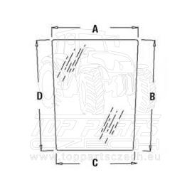 R96196 Přední sklo dolní, levé