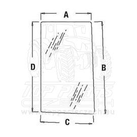 R96193  Postranní sklo pravé