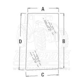R96194  Postranní sklo levé