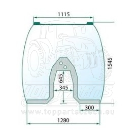 4297755M93  Čelní sklo