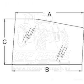 3902150M1 Přední sklo spodní, pravé