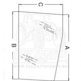 3902149M1  Přední sklo spodní, levé