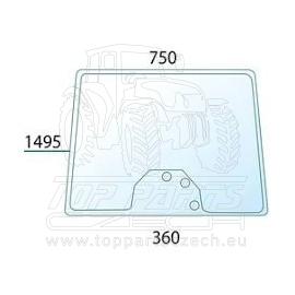 3777602M2 Přední sklo s rovnou podlahou, 3-díry, výška 902 mm s dírami