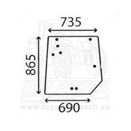 4272760M1 Zadní sklo  s rovnou podlahou