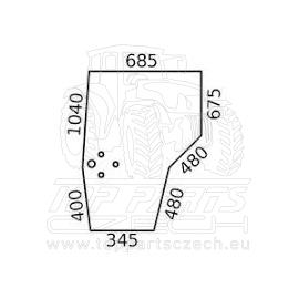 V34022200 Sklo dveří  levé