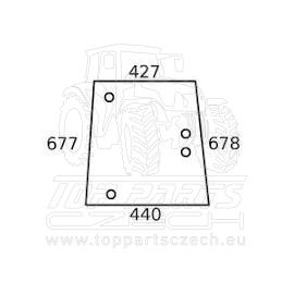 V34915500  Boční sklo pravé  do sériového čísla R19103