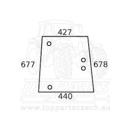 V33191210 Boční sklo pravé  od sériového čísla R19104