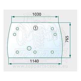 VA206267 Čelní sklo