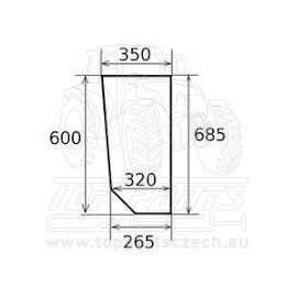 VA206260 RANIT  sklo  spodní pravé / levé