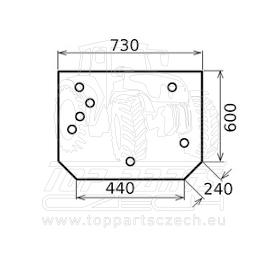 VA206266  Zadní sklo  horní