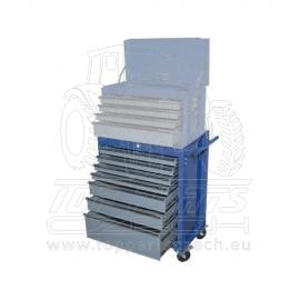 Dílenksý vozík na nářadí, modrý, 7x zásuvka KENNEDY