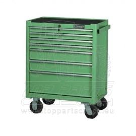 Dílenský vozík, KENNEDY, 7x zásuvka, zelený
