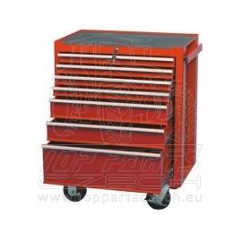Dílenský vozík, KENNEDY, 7x zásuvka, červený