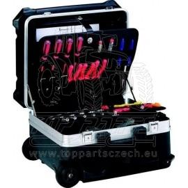 Kufr na nářadí hliníkový pojízdný 470x390x347mm KENNEDY - prázdný (KEN5932780K)
