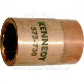 """Nejiskřivý hlavice 1"""" nástrčná metrická 24mm čtyřhran 12-hranná KENNEDY"""