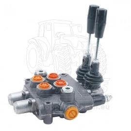 Dvoupáčkový hydraulický rozvaděč 40l typ BASIC H